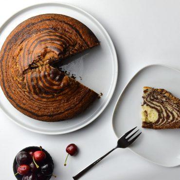 Zebra Cake o pastel marmolado de zebra