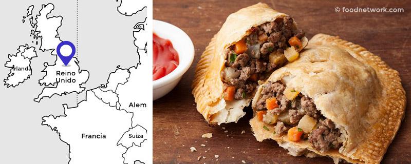 Empanada de Cornualles, Reino Unido