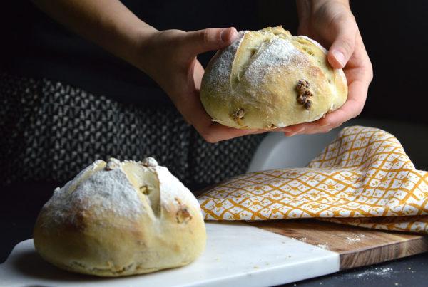 Receta pan de nueces