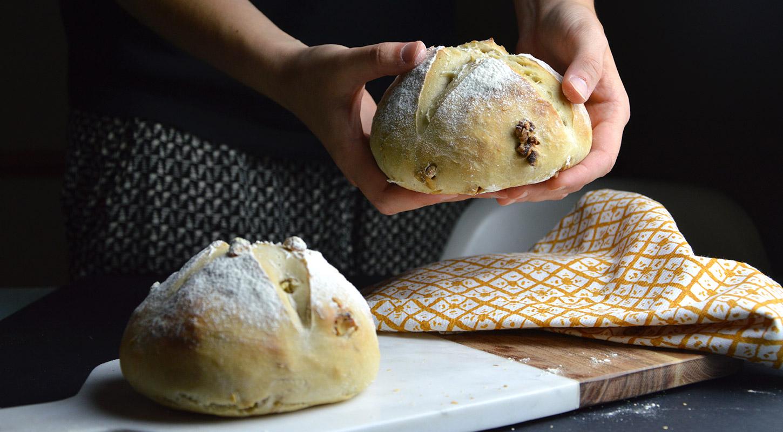 Receta de pan de nueces casero