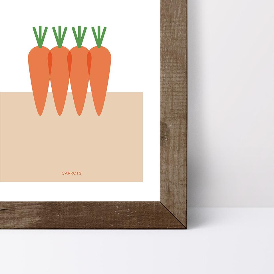 Detalle del póster Carrots