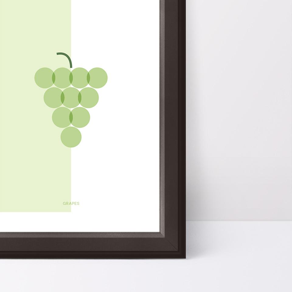 Detalle del póster Grapes