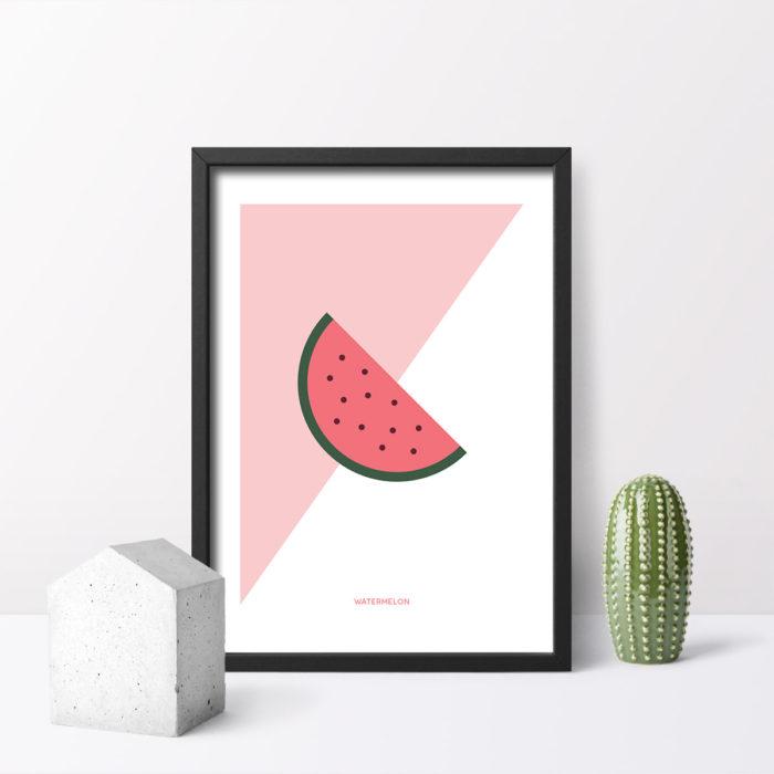 Póster Watermelon con marco