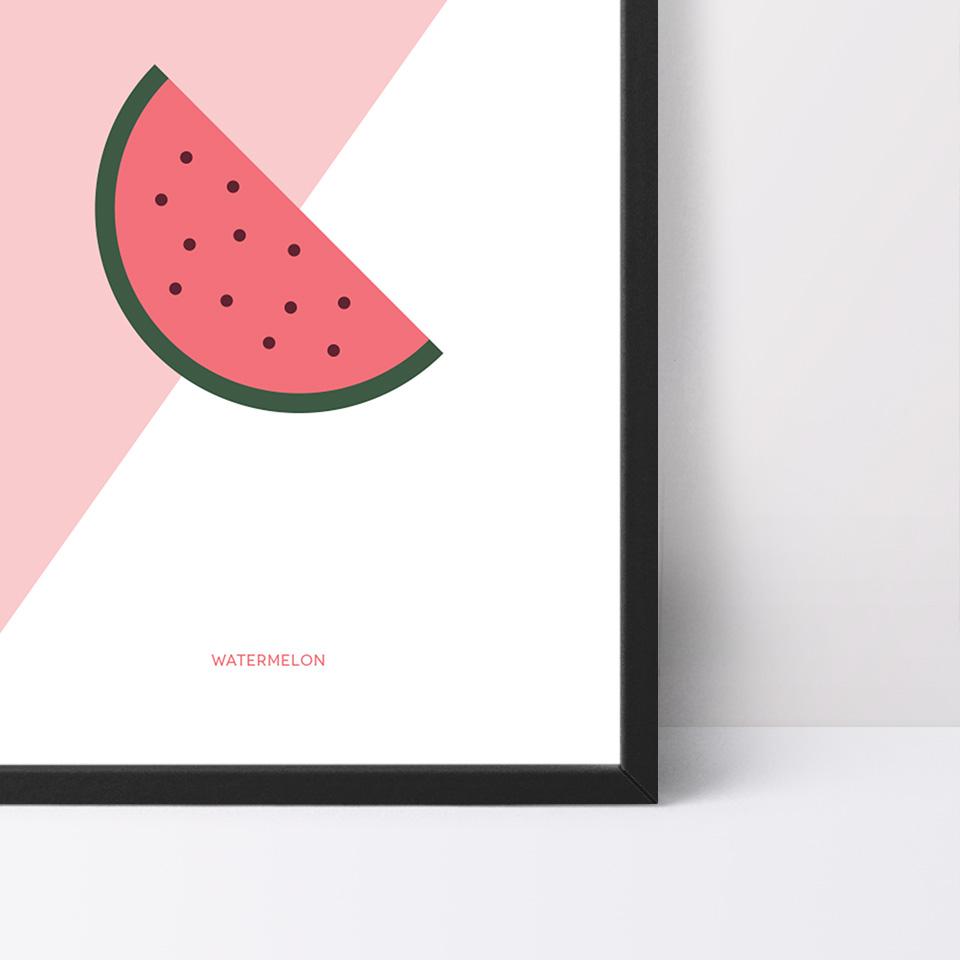Detalle del póster Watermelon de Miss Gourmand