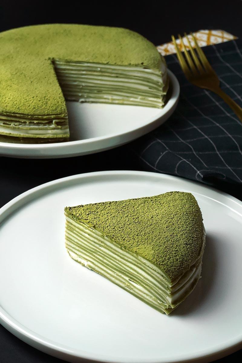 Receta de la tarta mille crepes matcha cake