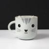 Taza en forma de gato gris
