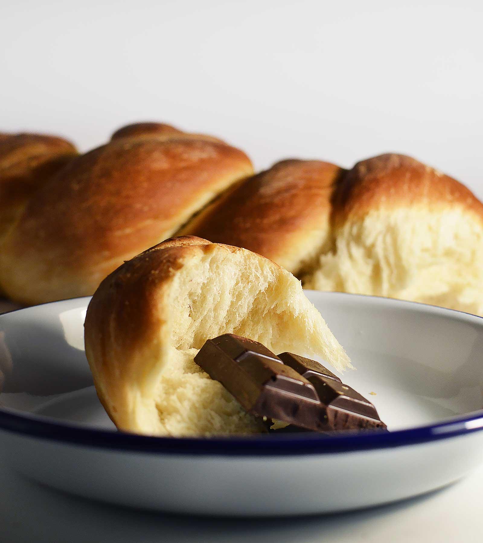 Trenza de pan de leche ideal para merendar