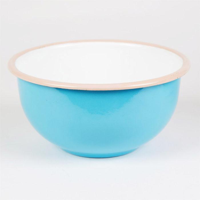 Bol retro de color azul