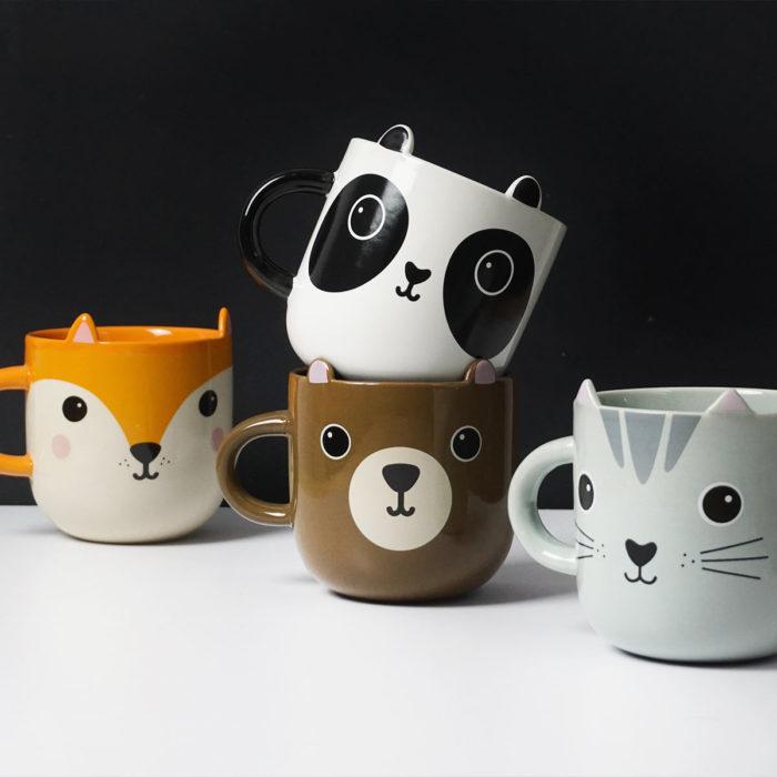 Colección de tazas Kawaii