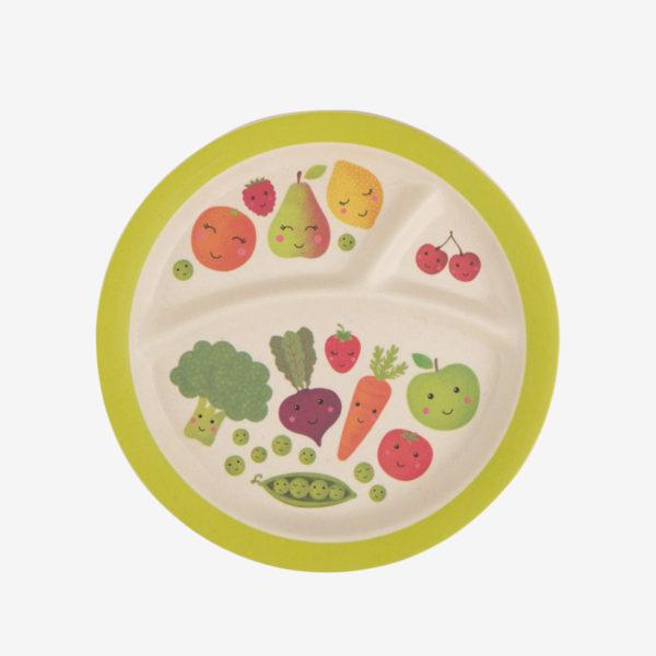 Plato para niños Happy Fruits
