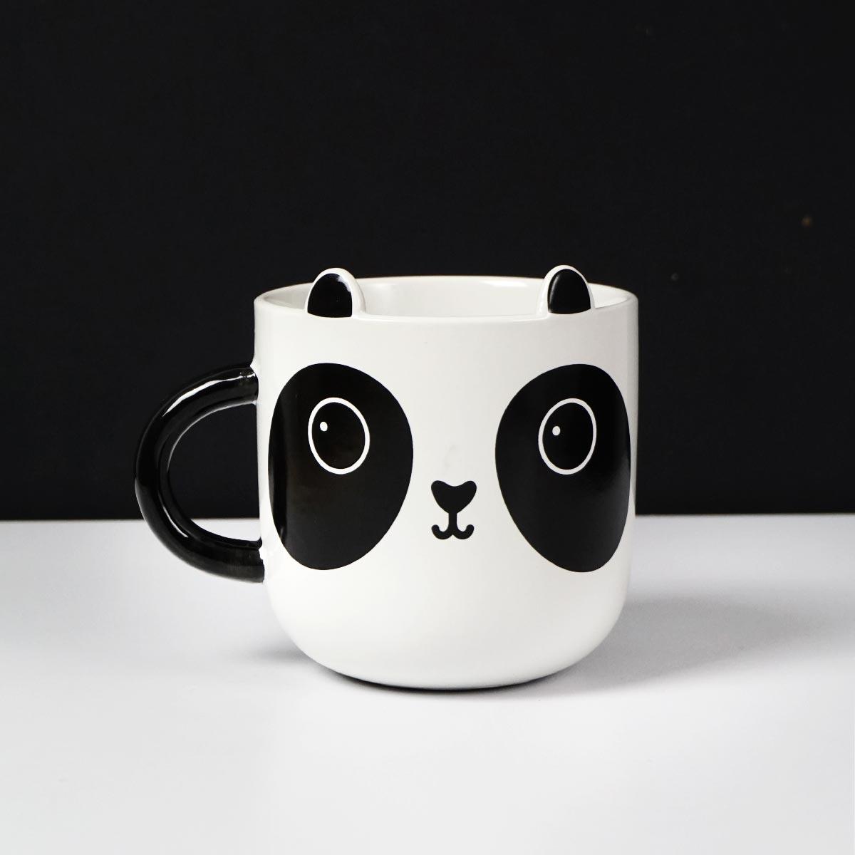 Taza panda blanco y negro