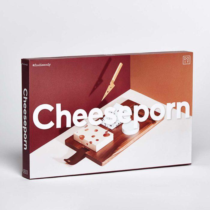 Caja de la tabla de quesos Cheeseporn