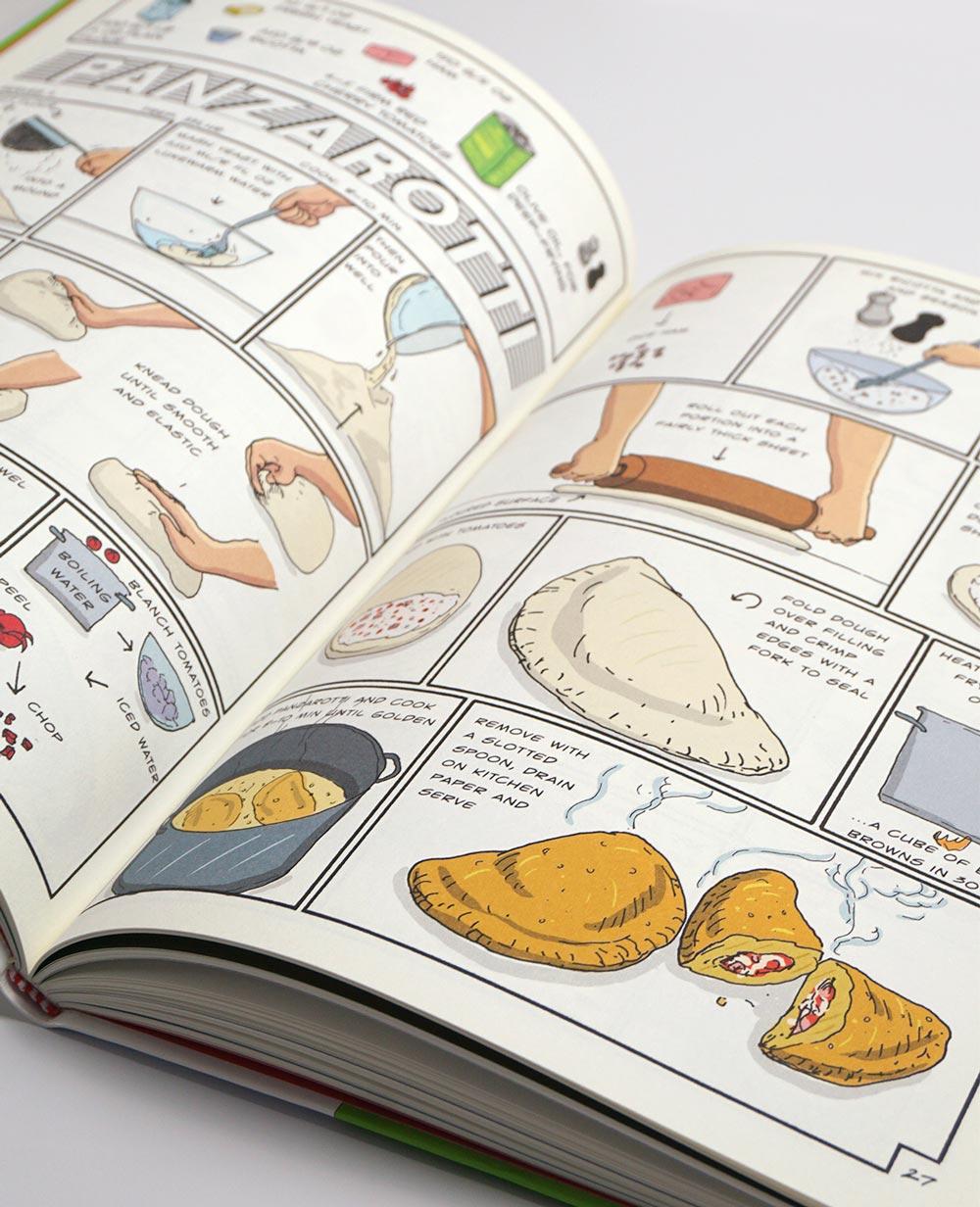 Comic con recetas italianas