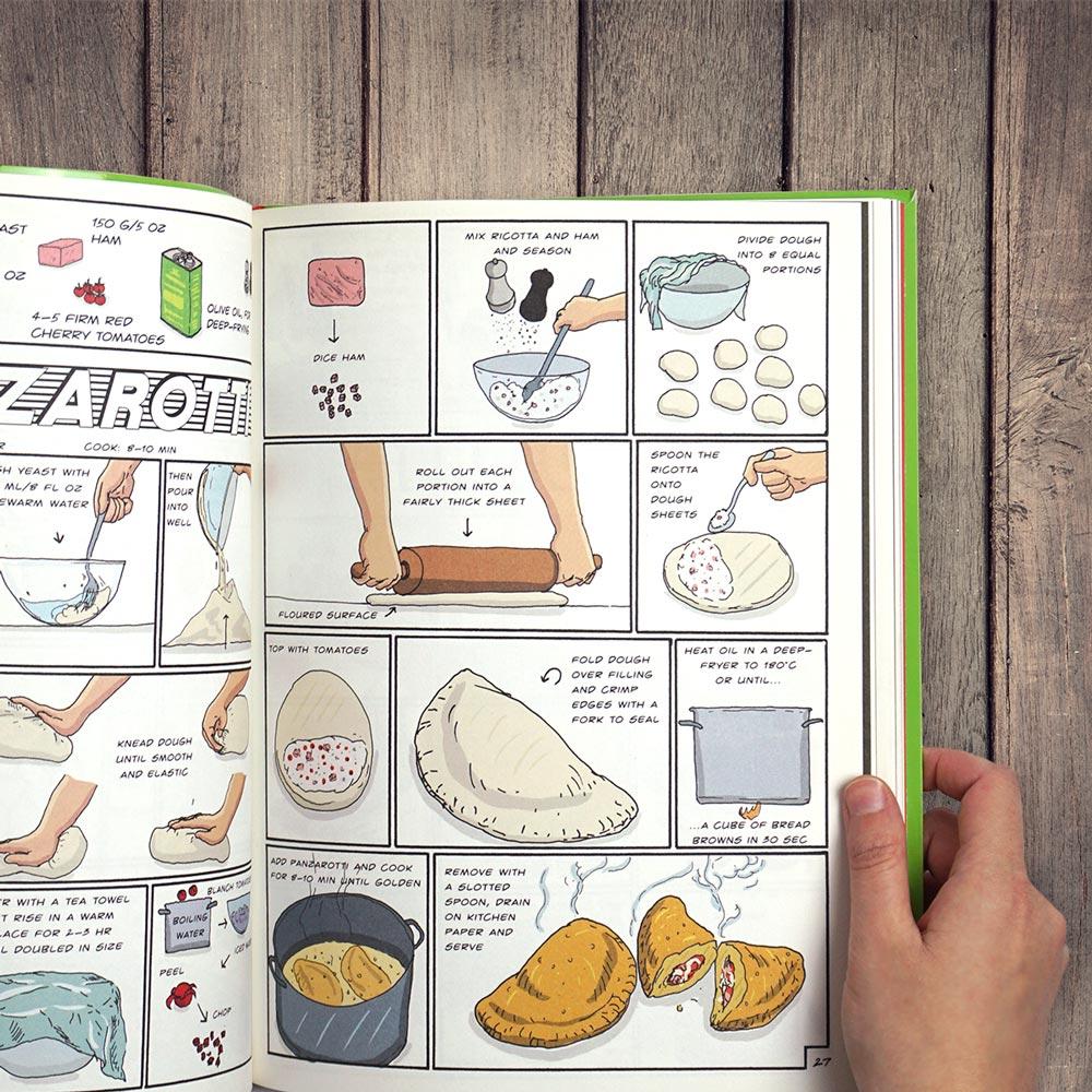 Interior del libro Chop, Sizzle, Wow