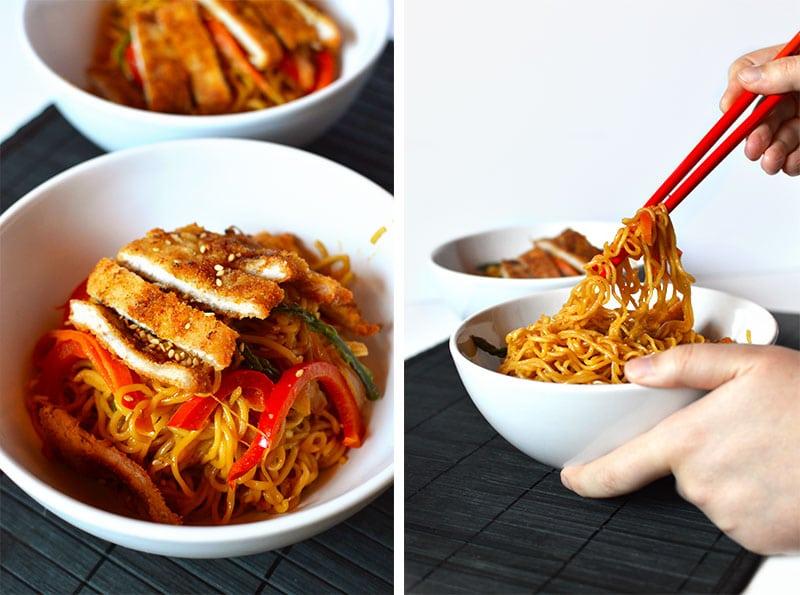 Receta de noodles yakisoba