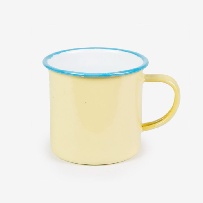 Taza Retro Enamel amarilla