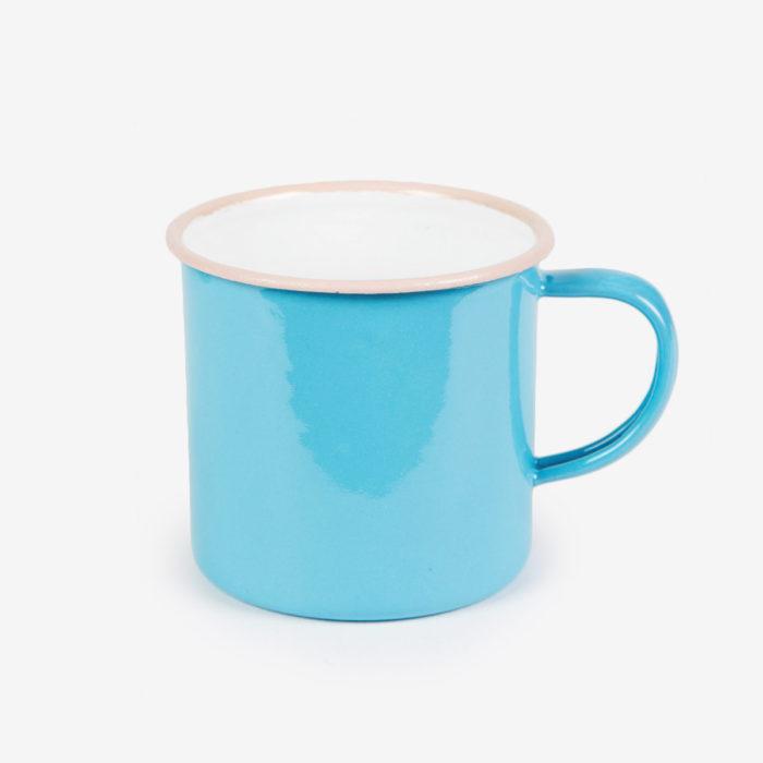 Taza Retro Enamel azul