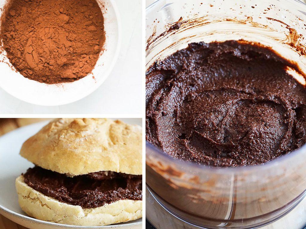 Crema de cacao saludable hecha en casa